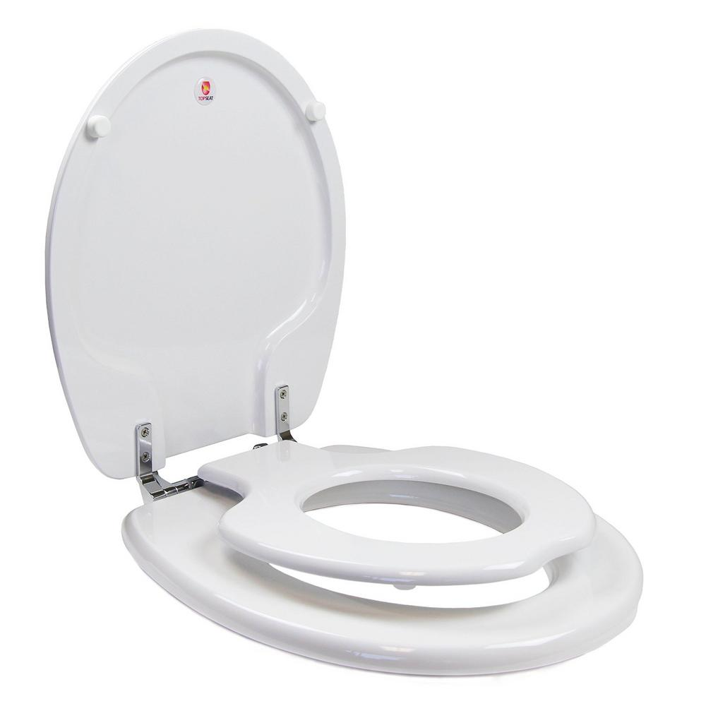 Courtney explained the potty seat built in to your toilet seat—here's the picture!