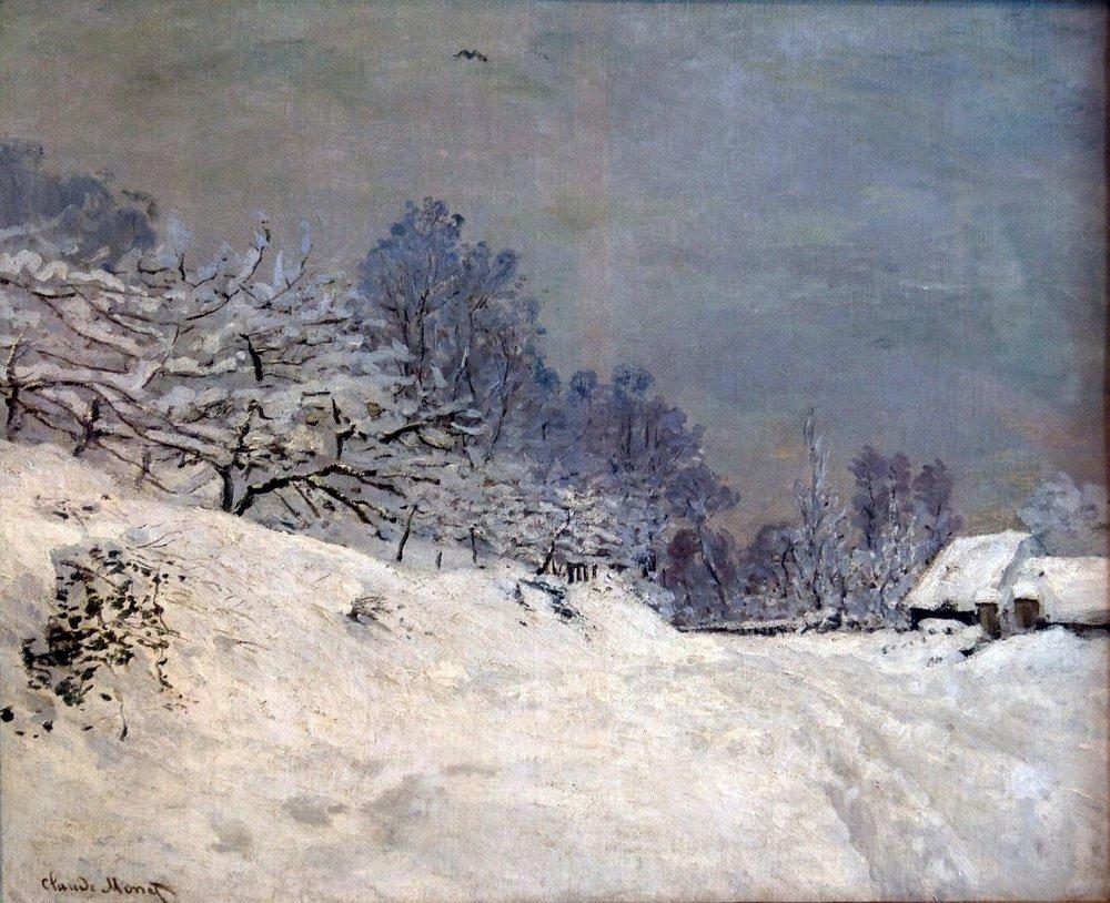 Monet The Road in Front of Saint-Simeon Farm in Winter - Copy.jpg