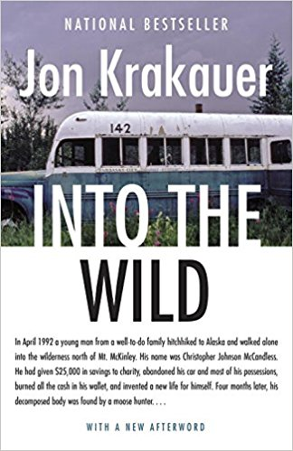 2. Into the Wild - Krakauer - Into the Wild is a true story of a man, Christopher McCandless, who took off for the Alaskan wilderness. McCandless himself was highly criticized for his recklessness in this adventure. However, what struck Krakauer, and the reason for which he wrote this novel, is what drove McCandless to the edges of society. Entangled within this book are many beliefs shared by transcendentalists such as Thoreau. This is a must-have for any road trip designed to get away from societal pressures.
