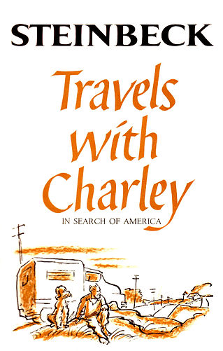 3. Travels with Charley: In Search of America - Steinbeck - Written when Steinbeck was old and sick, this novel details Steinbeck's drive across America and back with his dog, Charley. It was supposed by Steinbeck's son that the real reason for such a trip was his desire to see America one last time, although Steinbeck himself claimed that it was for the purpose of seeing what America was truly like. Although it is unclear how truthful the novel actually is, the wanderlust depicted within the pages is only too real for many of us, and makes this book perfect for any road trip.