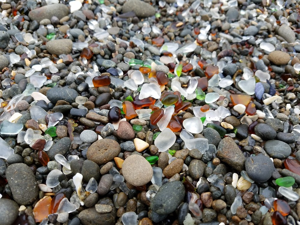 4. Glass Beach - An incredible example of nature's comeback to human waste, Glass Beach captures the attention of all who visit. Glass left from years and pounds of trash covers the shore of this beautiful beach, converted by the water into a spectacular sight and a harsh reminder of our ecological destruction.