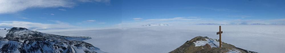 A memorial to Scott's polar team on Observation Hill