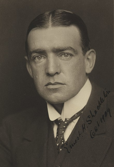 Ernest Shackleton 1909  Image from: https://en.wikipedia.org/wiki/Ernest_Shackleton#/media/File:Ernest_Shackleton_before_1909.jpg