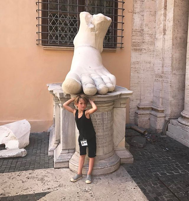 R O M A N / holiday with my little big man . #fbf #travel #rome #museums #inspiration #sculpture
