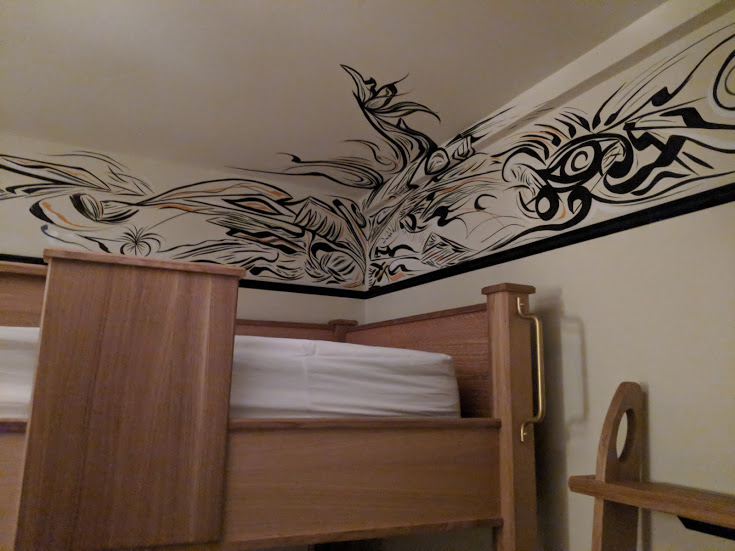 Freehand NY guest room mural 2017