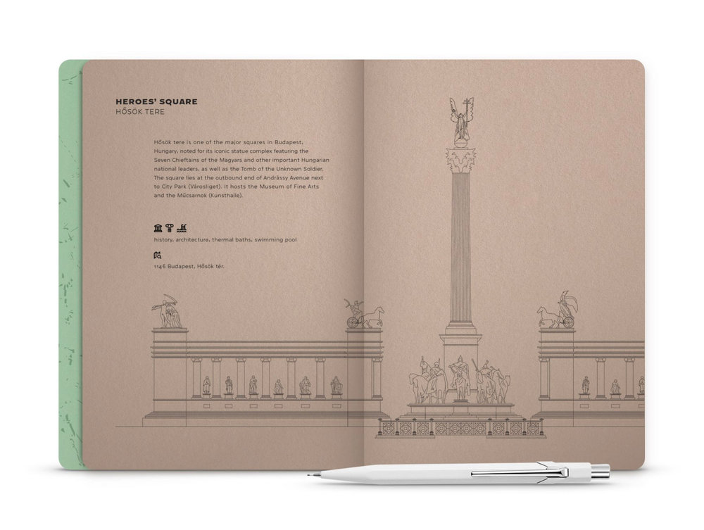 Hello Budapest eco-design notebook