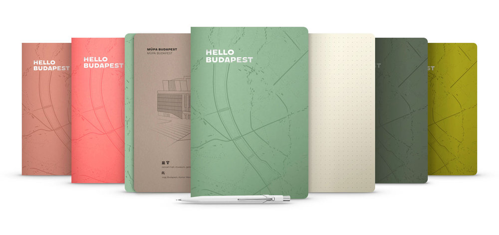Hello Budapest eco-design notebooks