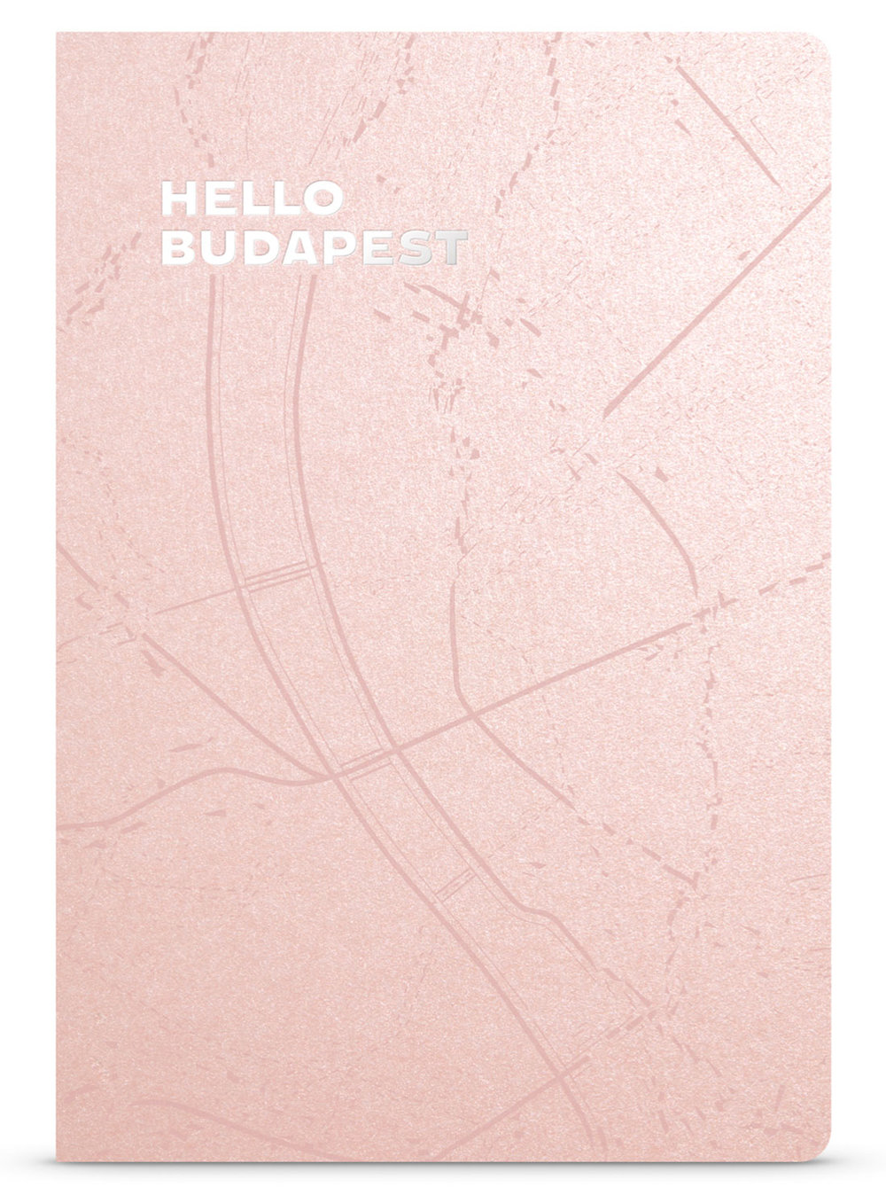 Hello Budapest eco-design notebook Rose Gold details | NOTESS