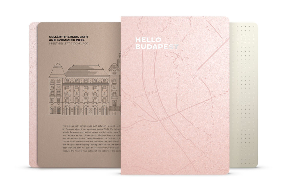 Hello Budapest eco-design notebook - Rose Gold Deluxe Edition | NOTESS