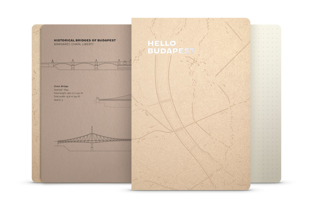 Hello Budapest eco-design notebook - Champagne Deluxe Edition | NOTESS
