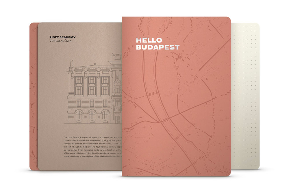 Hello Budapest eco-design notebook - Rosebud Edition