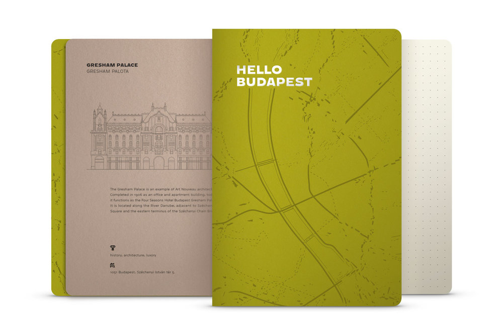 Hello Budapest eco-design notebook - Kiwi Edition