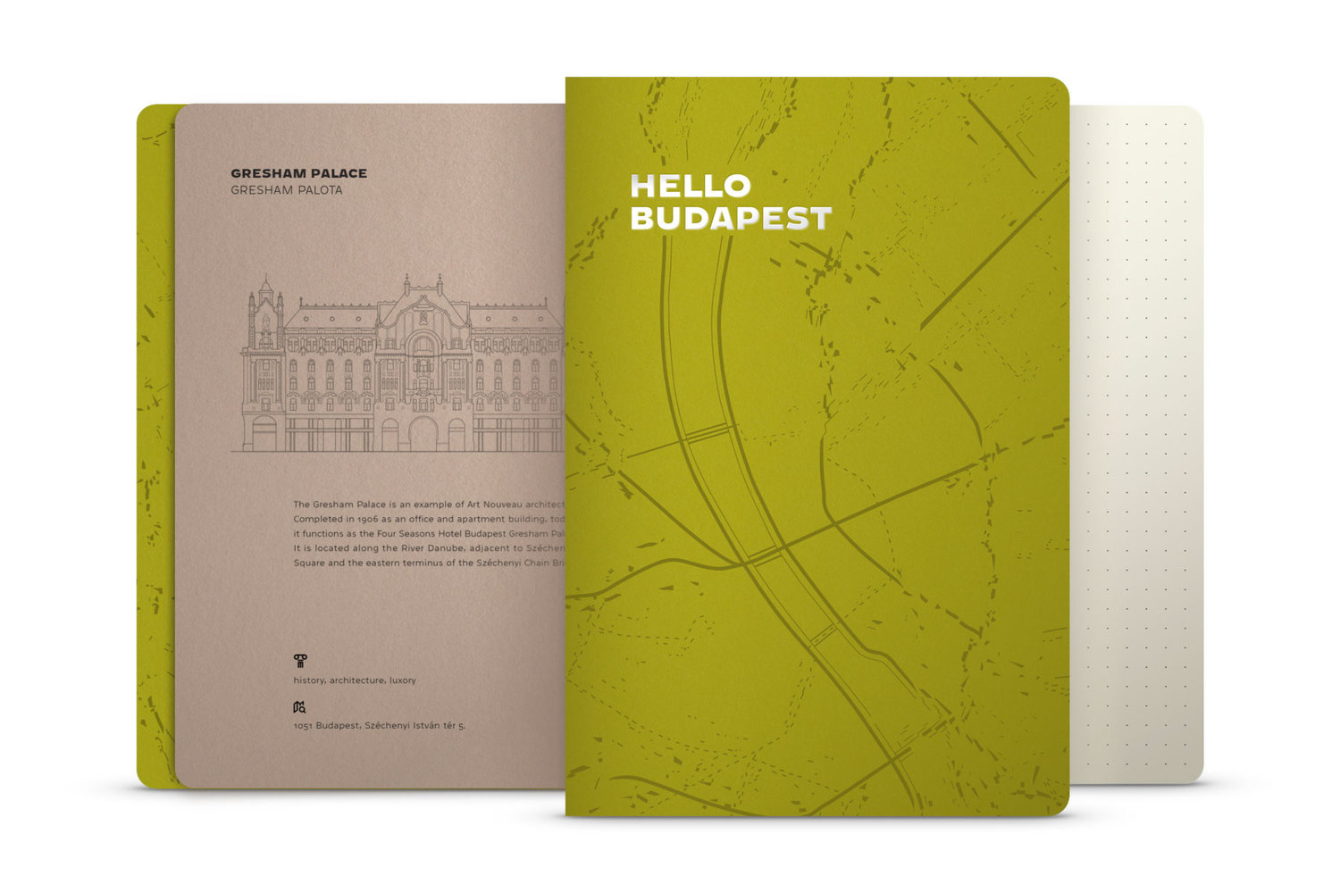 Iconic Budapest Sights Illustrated On Notebooks by Hellodesign
