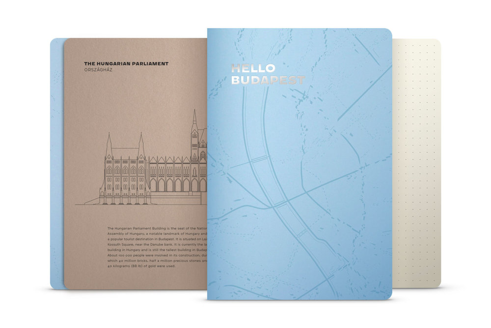 Hello Budapest eco-design notebook - Baltic Sea Edition