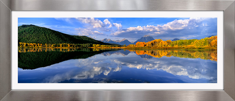 Oxbow Bend with Stainless & White Frame