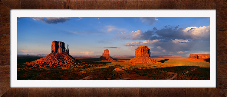 Monument Valley with Tobacco & White Frame