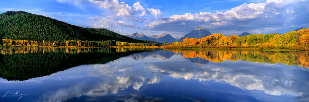 """Morning Drama"" Oxbow Bend, Grand Teton N.P., Wyoming"