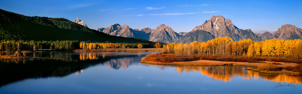 """Teton Gold"" Oxbow Bend, Grand Teton N.P., Wyoming"
