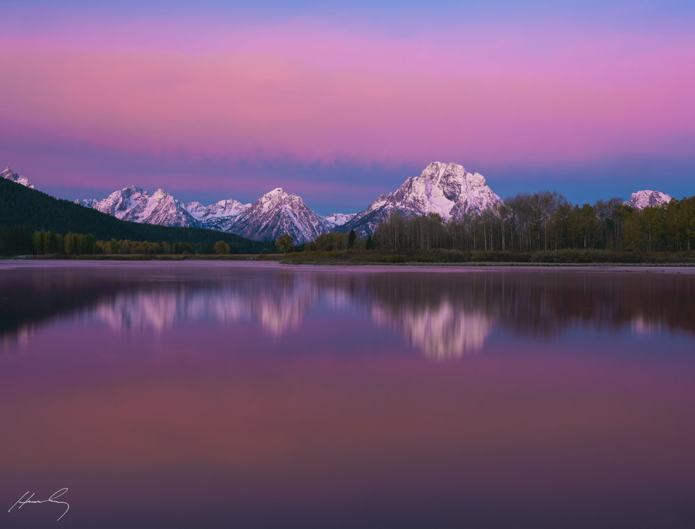 """Red Dawn"" Grand Teton N.P., Oxbow Bend, Wyoming"