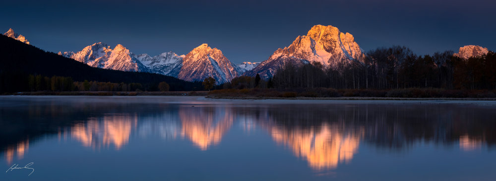 """Sunkissed"" Oxbow Bend, Grand Teton N.P., Wyoming"