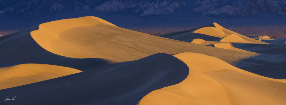 """Mesquite Dunes at Dawn"" Death Valley N.P., California"