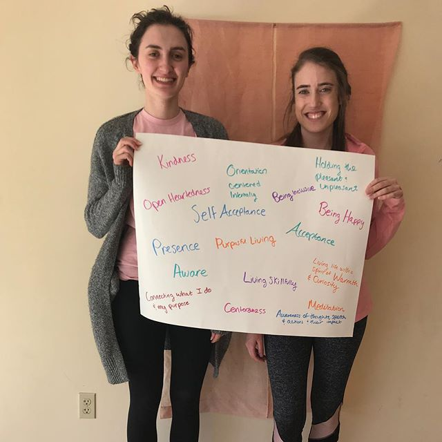 "What comes to mind when you think of ""mindfulness?"" Julia & Marian at the first Young Adult Mindful Meetup. More to come! #dc #mindfulness #mindfulnessmoment #yoga #mindfulmovement #sangha #youngadult #community #metta"