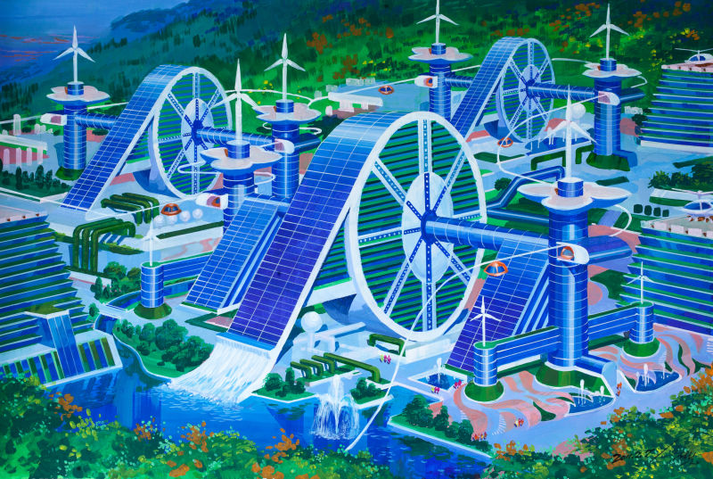 This is how North Korean architects are currently designing their future cities.  Click here.