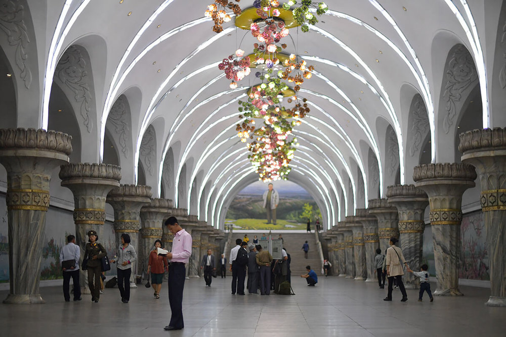 The Station of Glory at Pyongyang Metro