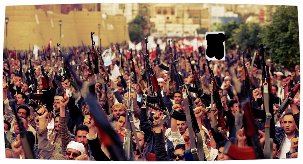 Ansarullah fighters and supporters march on the capital, Sana'a, photo from  Sputnik