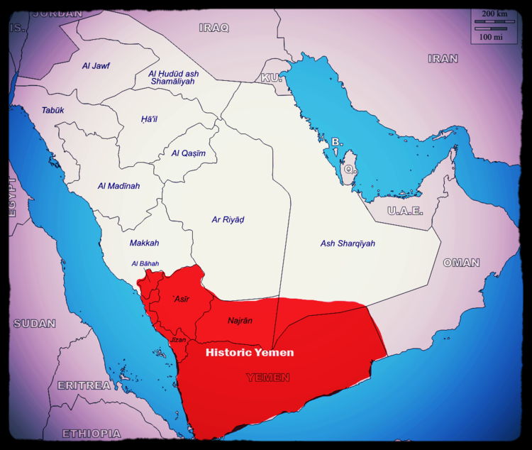 Historically, these territories were part of Yemeni civilisation, whereas the Saud clan are from the region of Nejd, modern day Riyadh province.