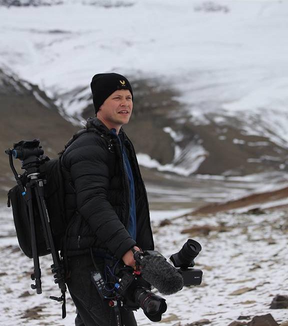 Lead ASoF Documentary Instructor Matthew Koshmrl on location in Antartica.