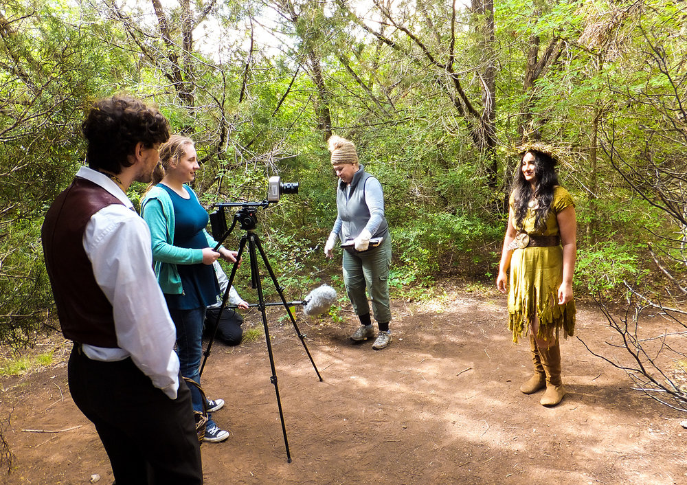 Catrin (second to the left) directing  Garden of Jannet