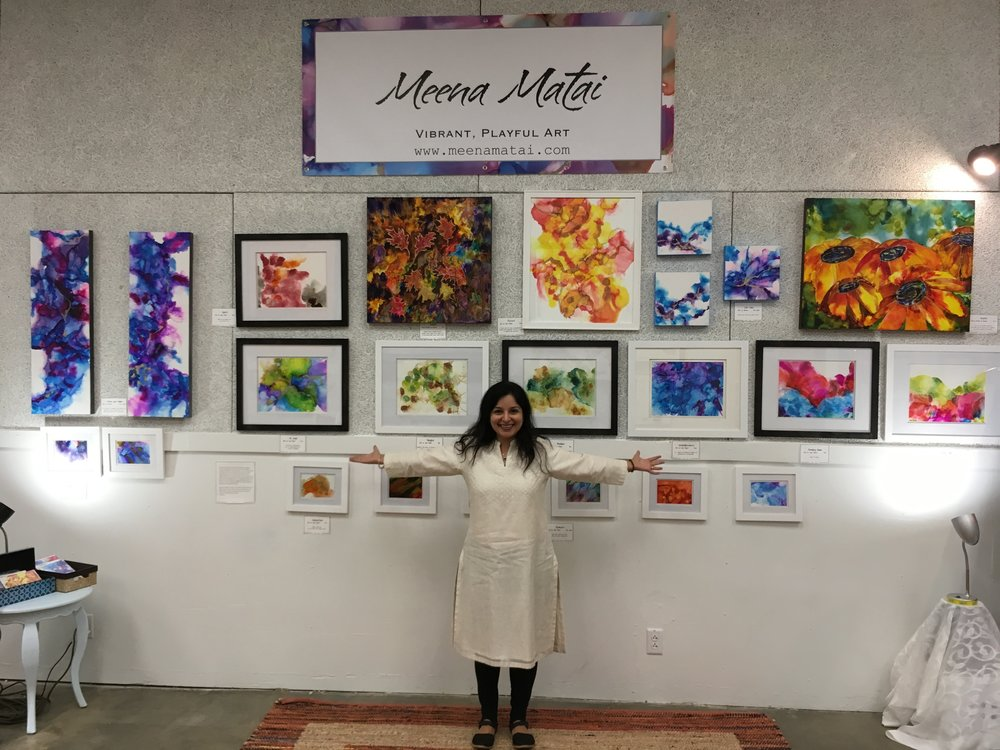 Meena showcasing her work at MMAC's 2017 EAST exhibit