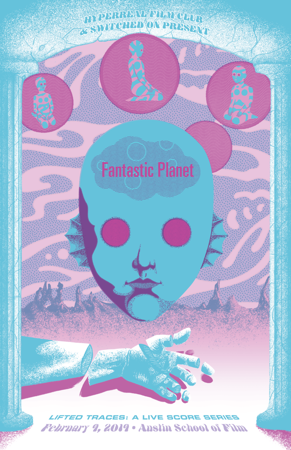 — LIFTED TRACES: A LIVE SCORE SERIES —     Hyperreal film club     &   Switched On     present:  FANTASTIC PLANET   (Live Scored by the Switched On Ensemble)    ONE NIGHT ONLY    —    February 9, 2019    at    Motion Media Arts Center