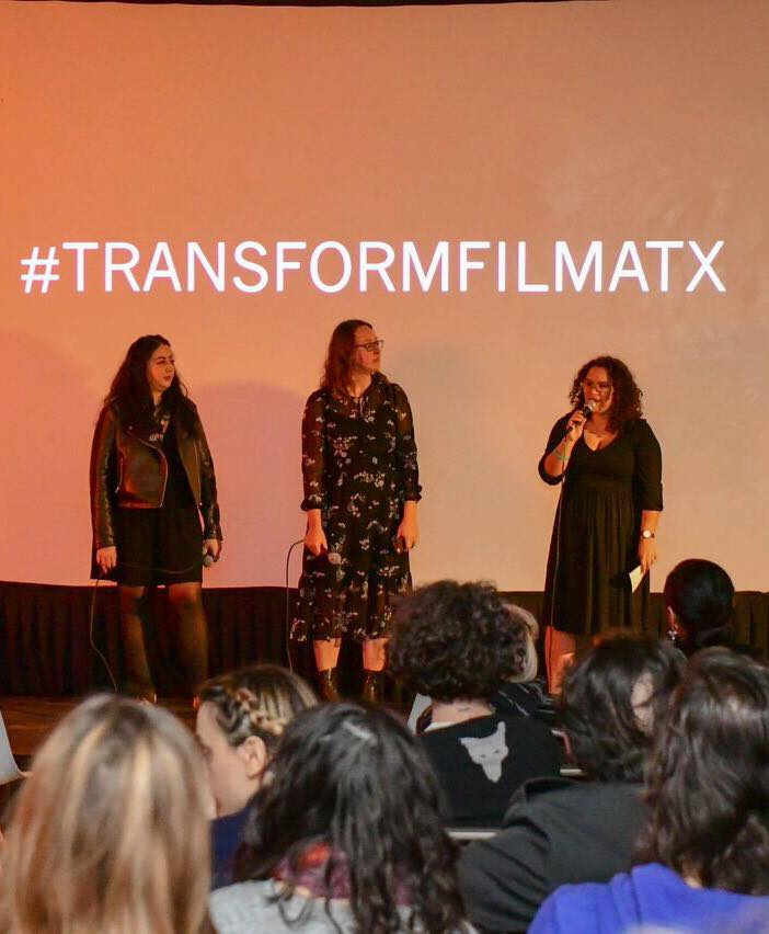 Faiza with the film festival she co-founded, Transform Film Fest