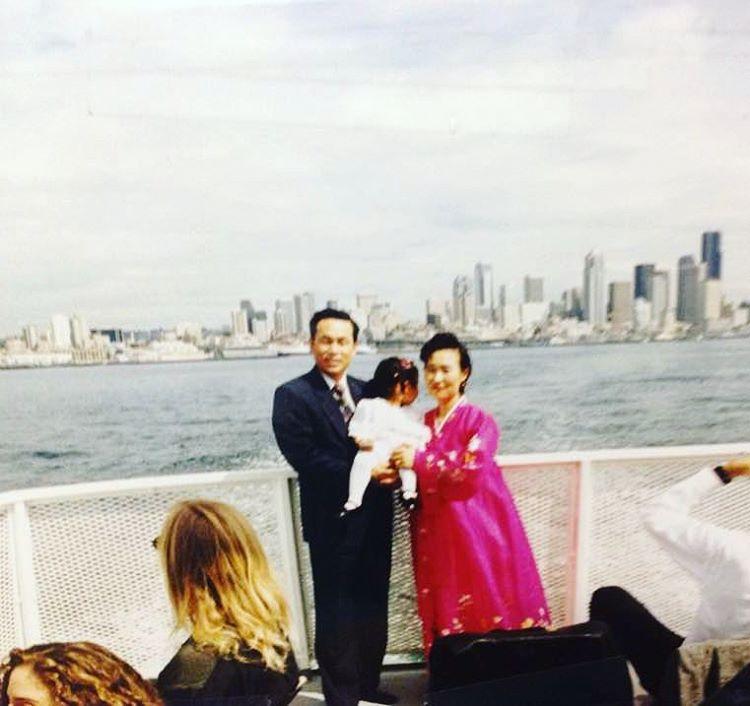 Mom & Dad, Bainbridge Ferry - 1992