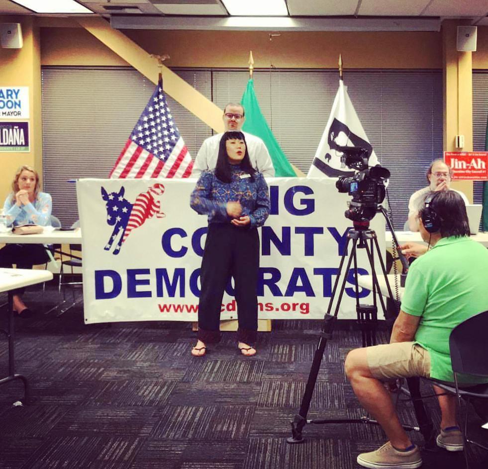 King County Democrats endorsement meeting