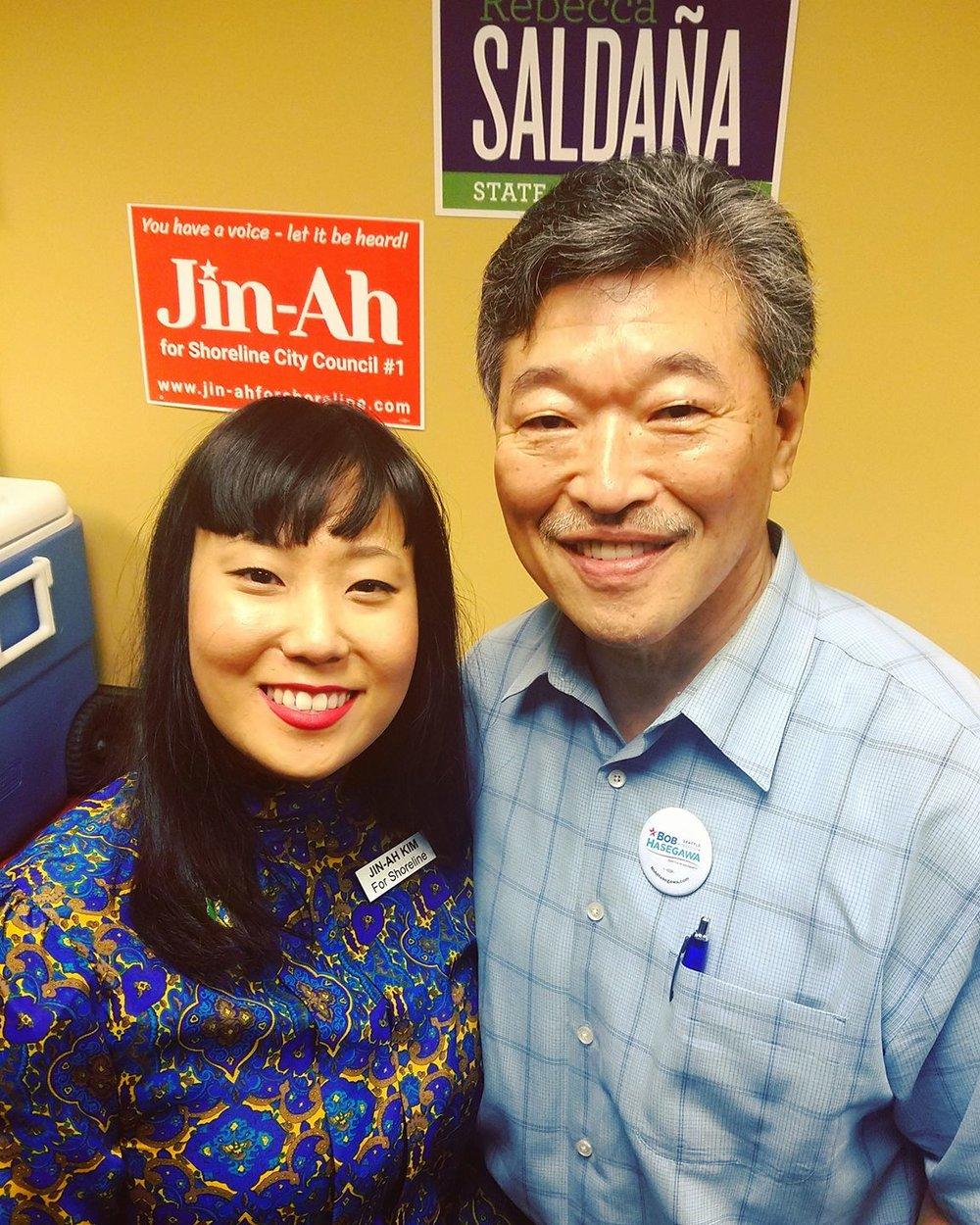 Proud to be endorsed by WA State Senator Bob Hasegawa - 11th Legislative District (Seattle)