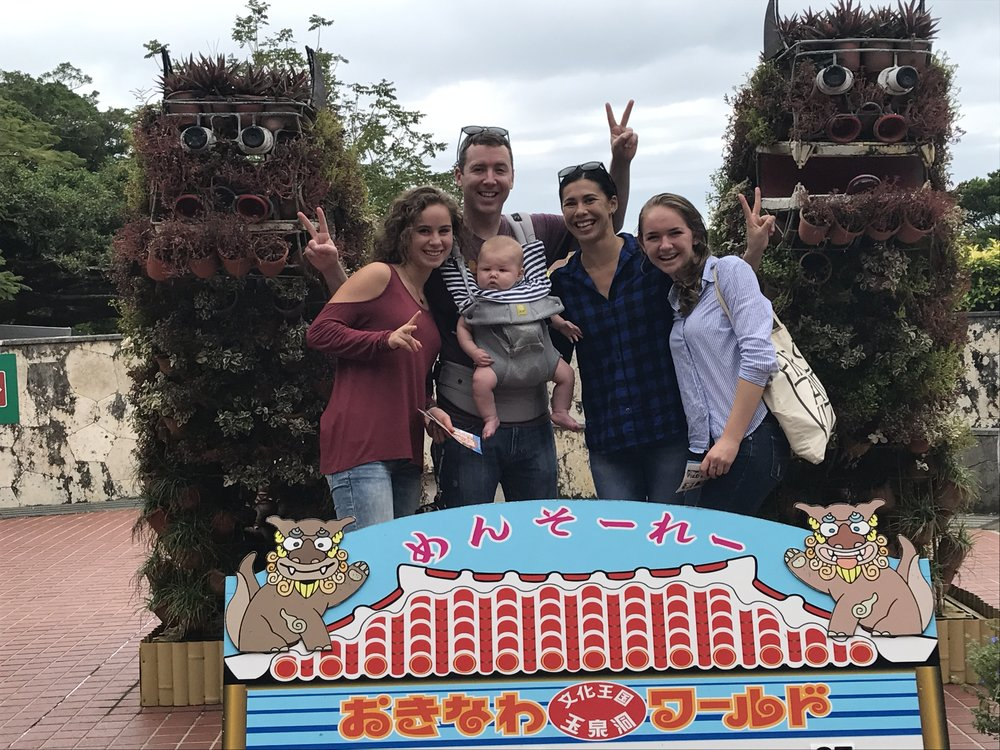 Taylor Family, Keelyn and I at Okinawa World