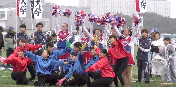 Ekiden Cheerleaders - 50 teams -50 cheer squads dancing, drumming and cheering on their respective teams