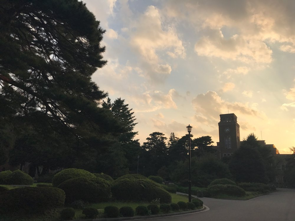 Hitotsubashi University on a fall evening