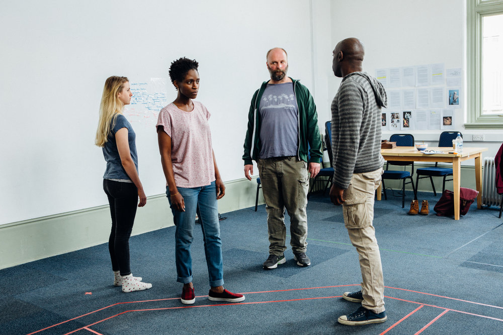 Louise McMenemy, Sharon Duncan-Brewster, Nigel Barrett and Andrew French. The Iphigenia Quartet rehearsals, Gate Theatre - ©HelenMurray-470.jpg