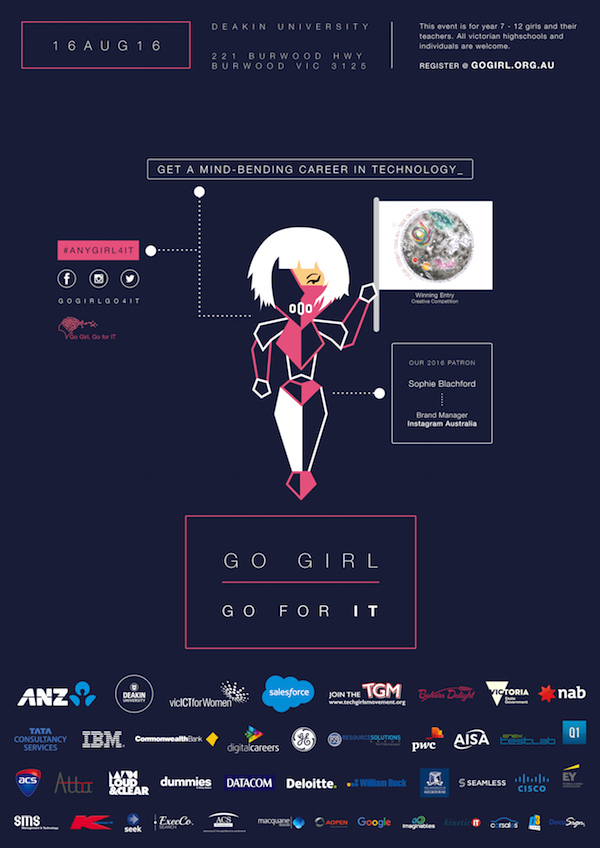 Go Girl, Go for IT 2016 Event Poster