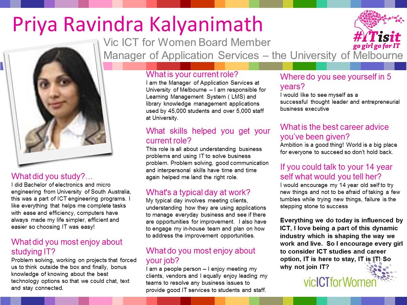 Priya Ravindra Kalynimath Interview slides