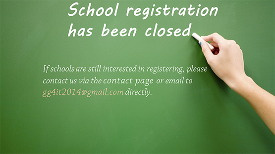 Registration closed webpage