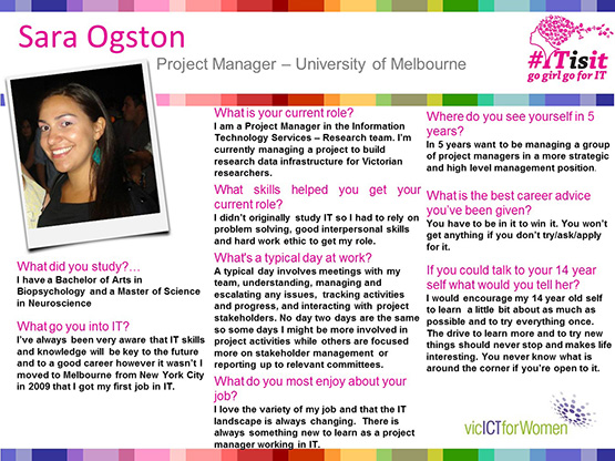 Sara Ogston interview slides