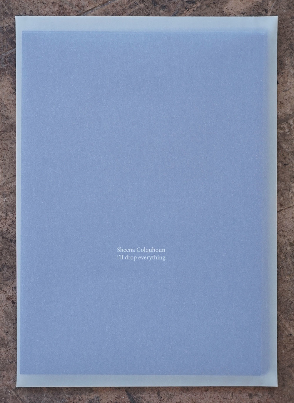 Collection of poetry, I'll drop everything, Launched at  Gertrude Contemporary  alongside  Vinegar