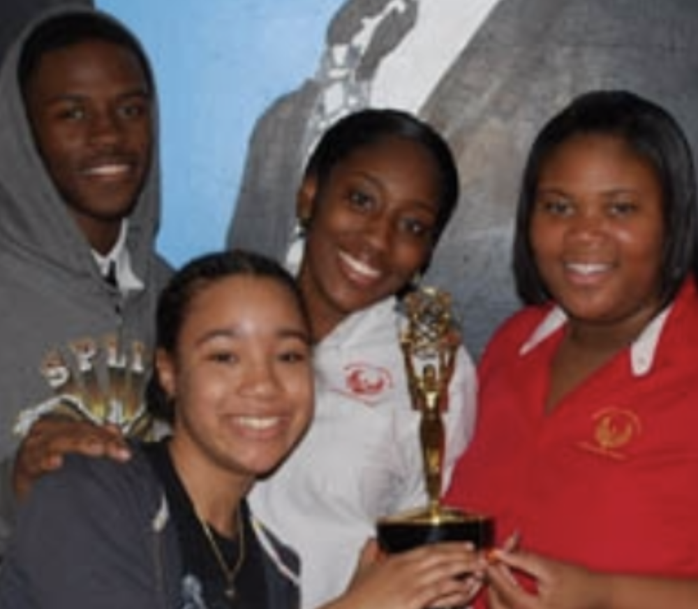 Lamar, Clemesha, Ashia and Demetriawith the Emmy