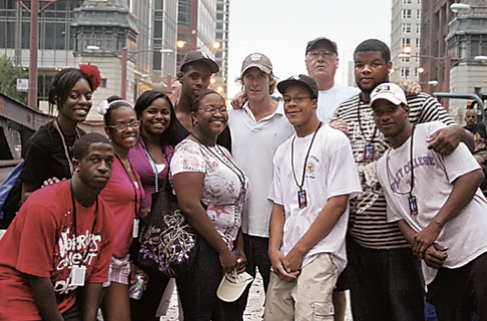 FSM Youth on the set of Transformers3.