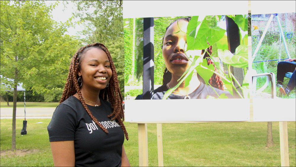 Anaya Frazier, first year as a Girl/Friend, with her self taken portrait.